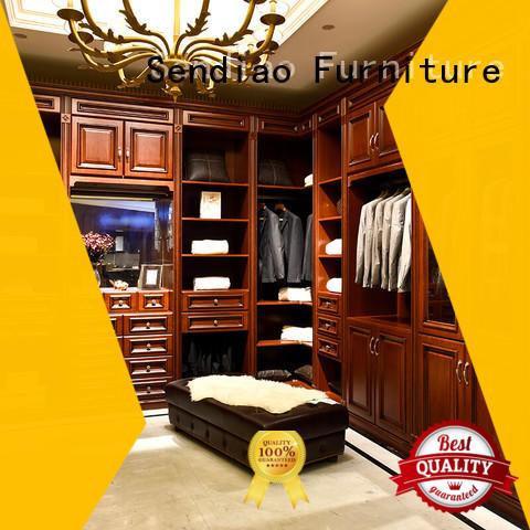 Sendiao Furniture American style wood wardrobe cabinet sdw03 Study