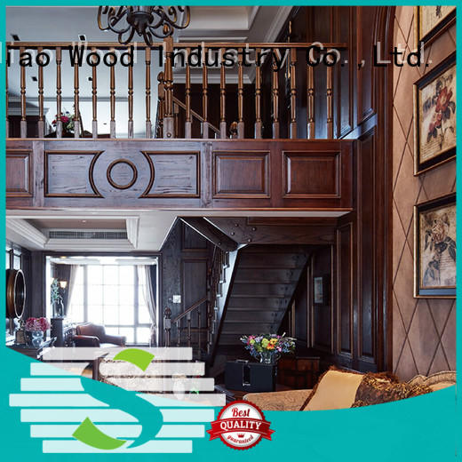 Top wooden staircase modular factory chateau