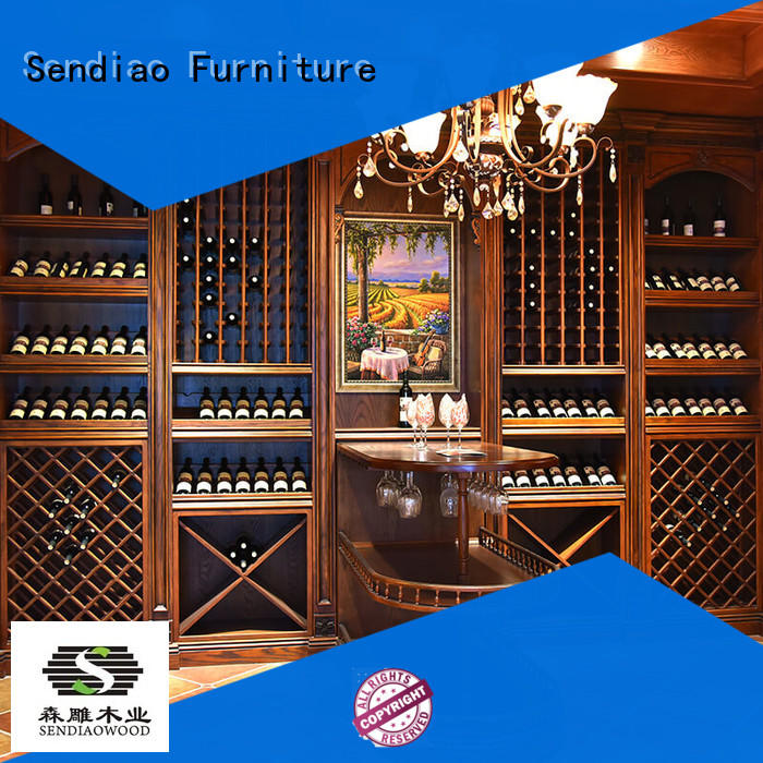 Sendiao Furniture solid solid wood wine cabinet elegance Four Star Hotel