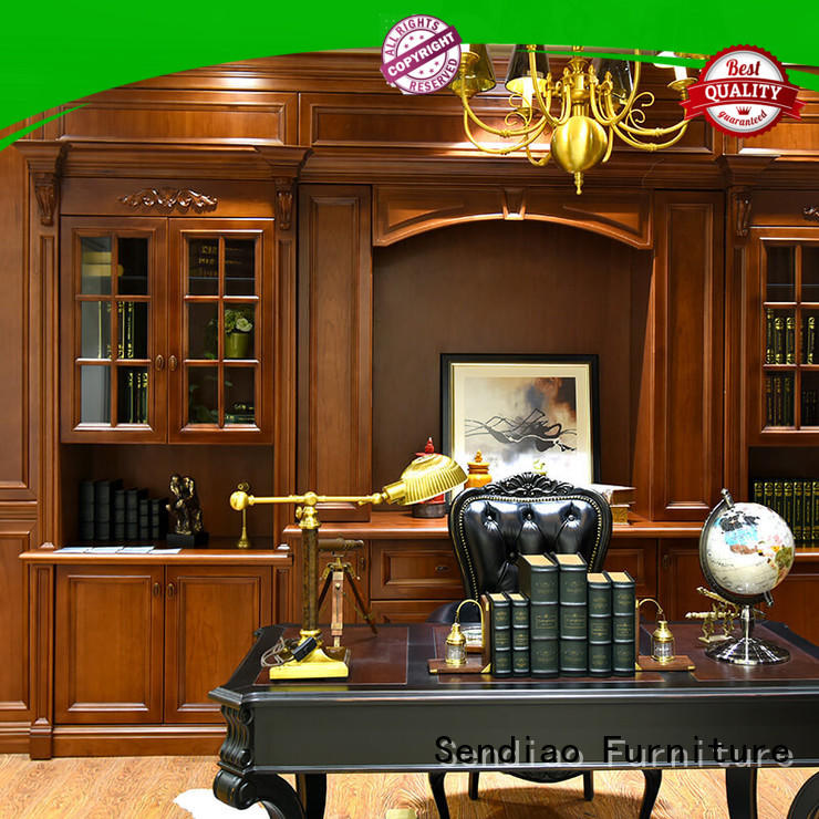 deluxe solid wood bookcases threepiece Three-star Hotel Sendiao Furniture