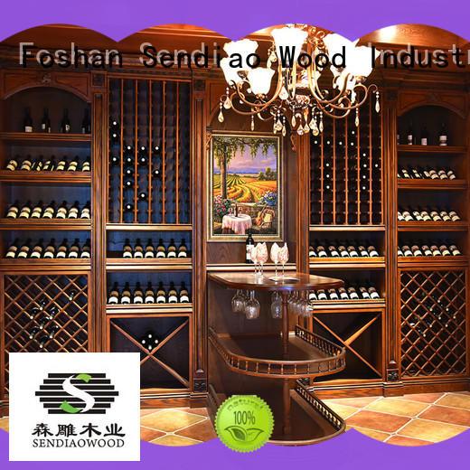wooden wine storage cabinets wine Bedroom Sendiao Furniture