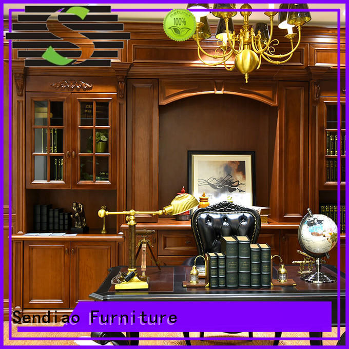 Sendiao Furniture The latest generation solid wood bookcases Promotion Three-star Hotel
