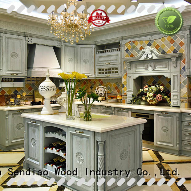 Sendiao Furniture Wholesale real wood kitchen cabinets manufacturers a living room