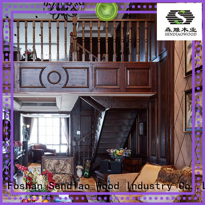 Sendiao Furniture low price hardwood stairs Simplicity Chateau