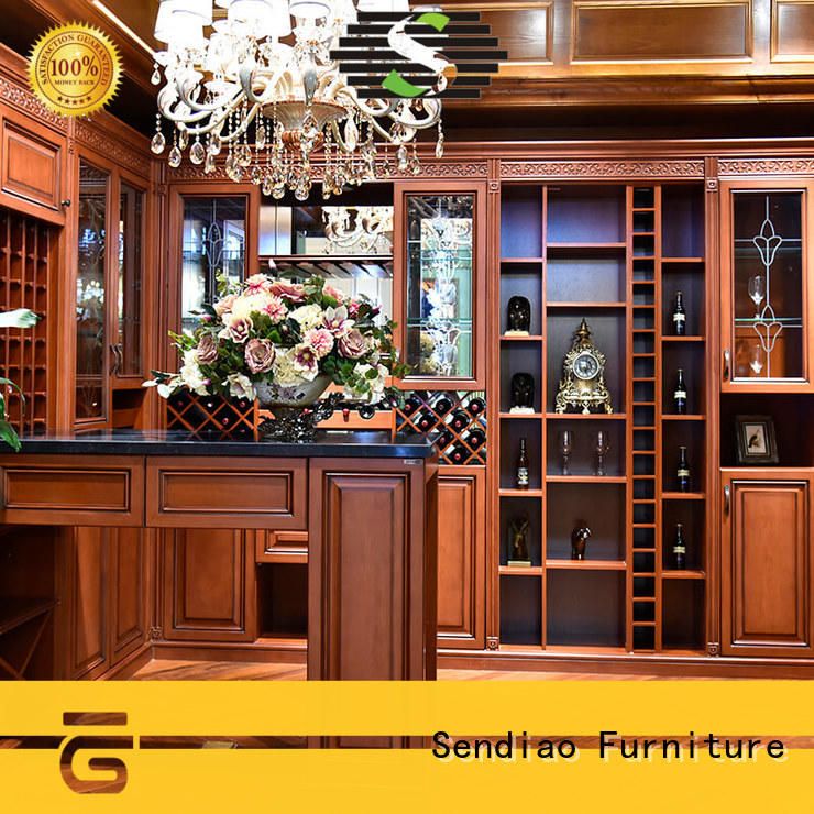 Sendiao Furniture Custom solid wood wine cabinet Suppliers a living room