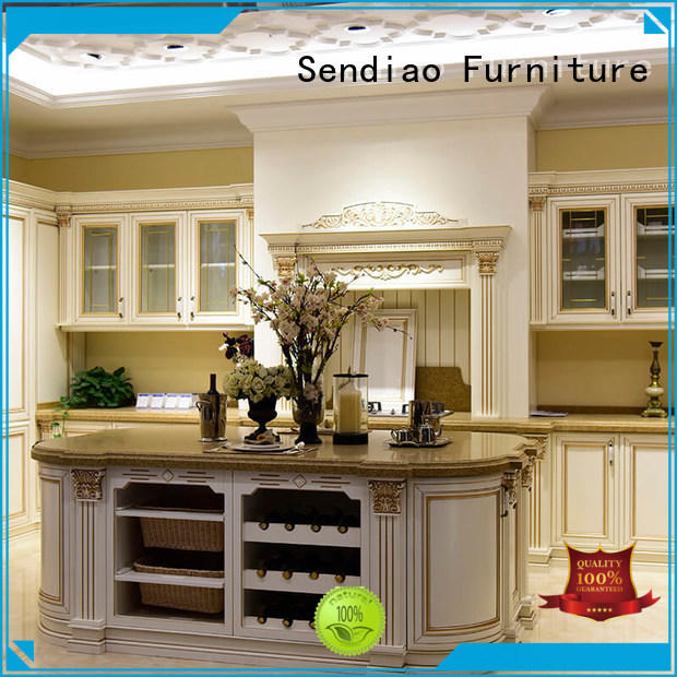 Sendiao Furniture kitchen real wood kitchen cabinets New products Three-star Hotel