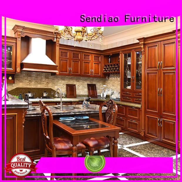 Wholesale artificial bespoke kitchen cupboards Sendiao Furniture Brand