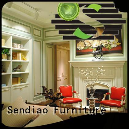 wood decorative wall panelling interior walls panel Exhibition hall Sendiao Furniture