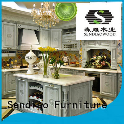 sdk04 real wood kitchen cabinets Simplicity Four Star Hotel