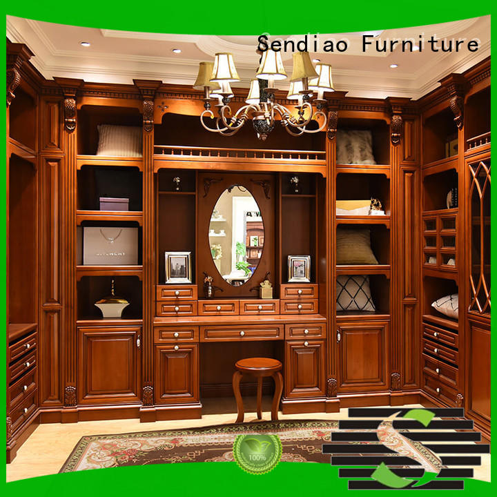 wood wooden OEM bespoke fitted wardrobes Sendiao Furniture