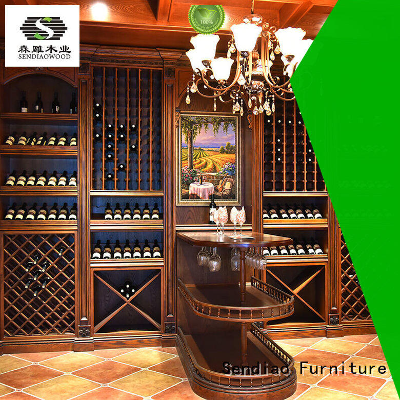 Sendiao Furniture American style wooden wine storage cabinets oak Exhibition hall