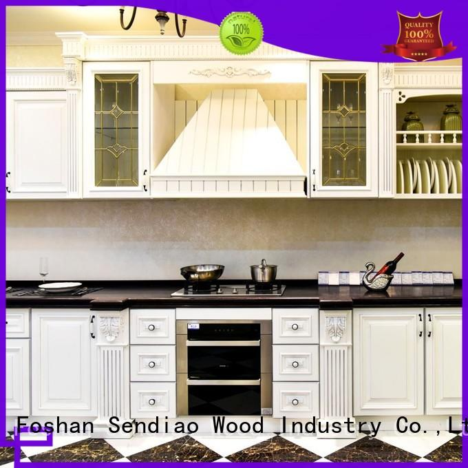 solid solid wood kitchen cupboards Simplicity Study Sendiao Furniture