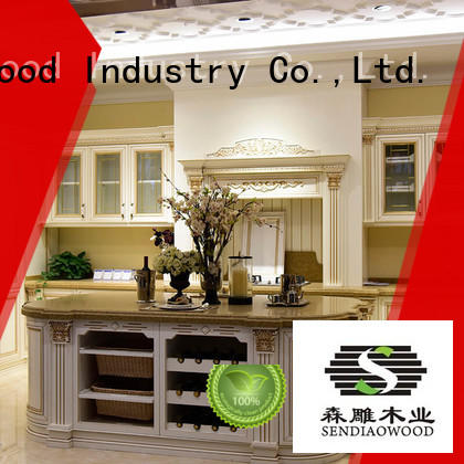 Sendiao Furniture low price custom wood kitchen cabinets sdk07 Chateau