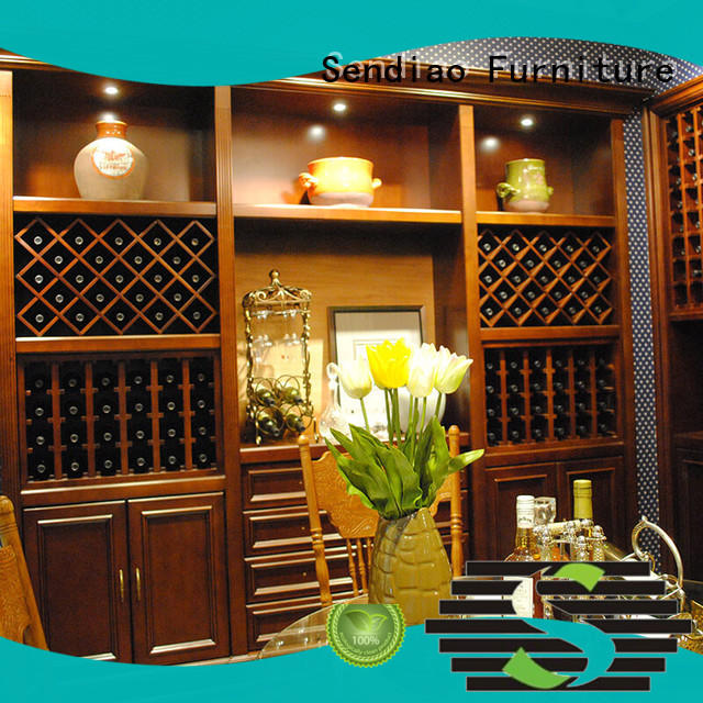 The latest generation wooden wine storage cabinets Promotion A living room