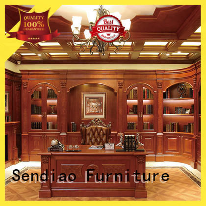 classical solid wood bookcases combination manufacturers exhibition hall
