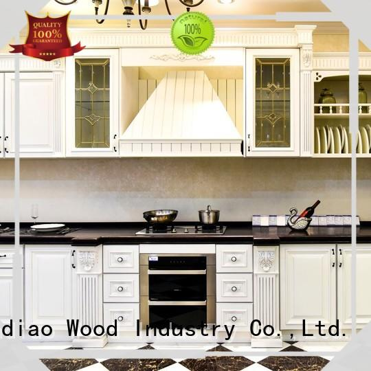 artificial wood kitchen cabinets sdk03 Fivestar Hotel Sendiao Furniture