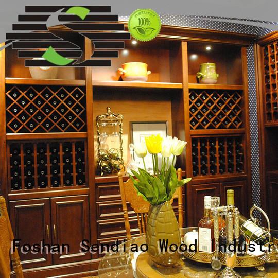 Sendiao Furniture Brand antique wood white wine cabinet red supplier