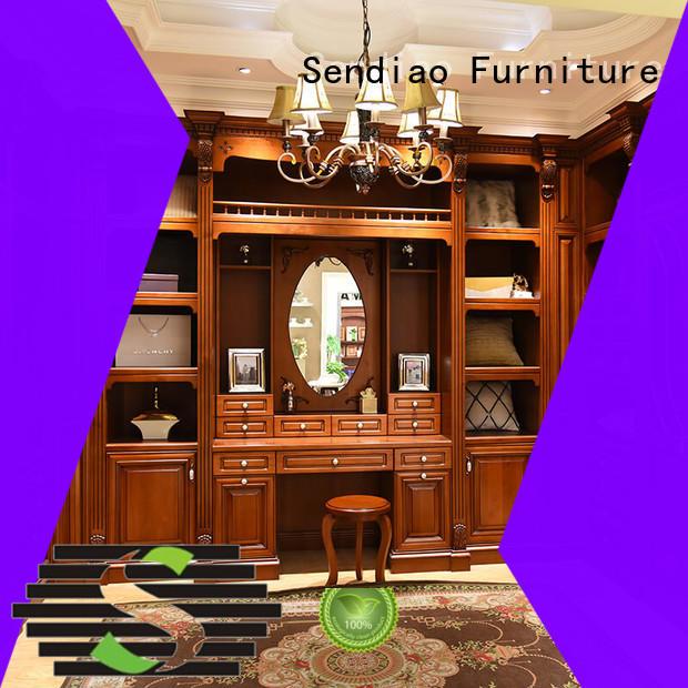 Simplicity wood armoire wardrobe classical Fivestar Hotel