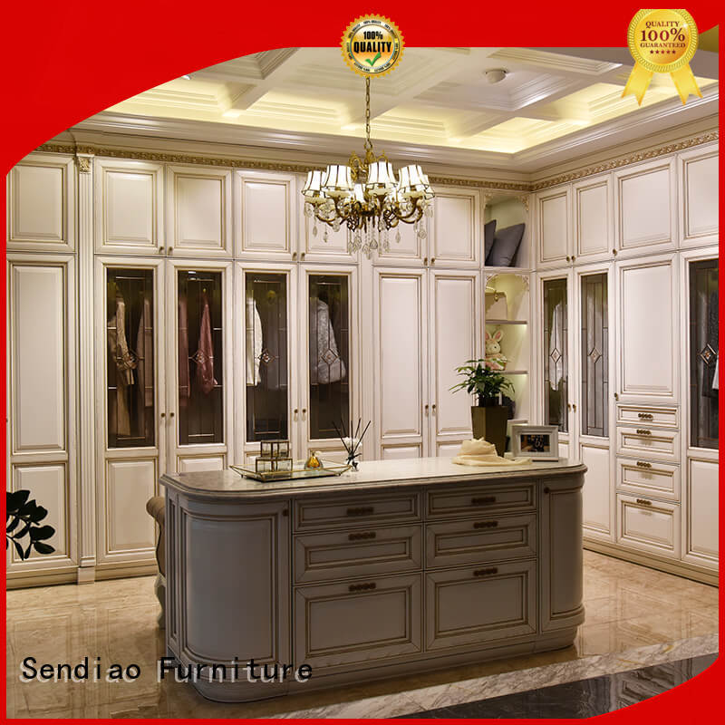 Sendiao Furniture bedroom wood wardrobe cabinet Supply chateau