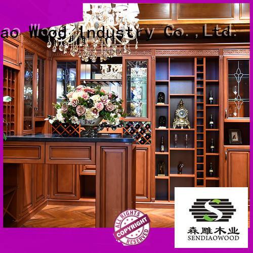 Sendiao Furniture Simplicity wine storage cabinet oak Fivestar Hotel