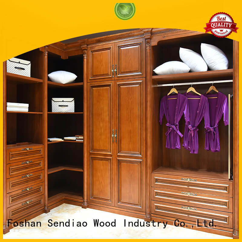 wooden cabinet for clothes sdw06 Four Star Hotel Sendiao Furniture