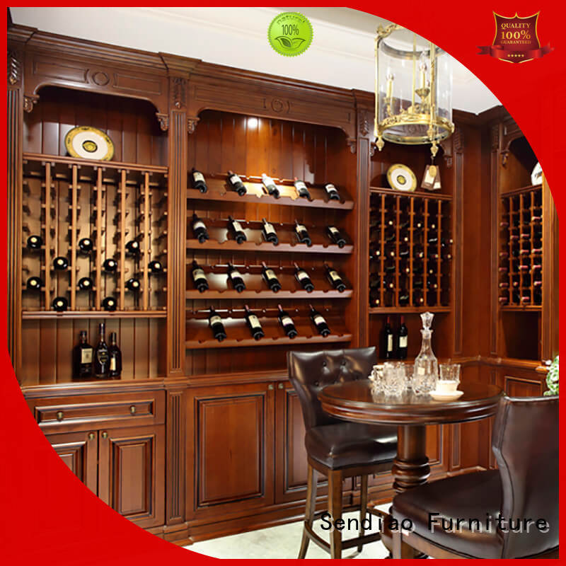 Sendiao Furniture red wood wine cabinet New products Fivestar Hotel