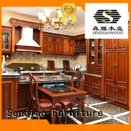 The latest generation rustic kitchen cabinets Simplicity Study