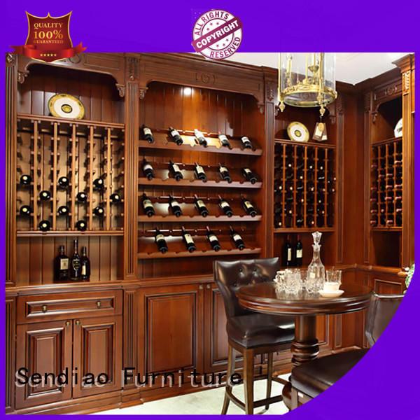Sendiao Furniture wood wooden wine storage cabinets Promotion Bedroom