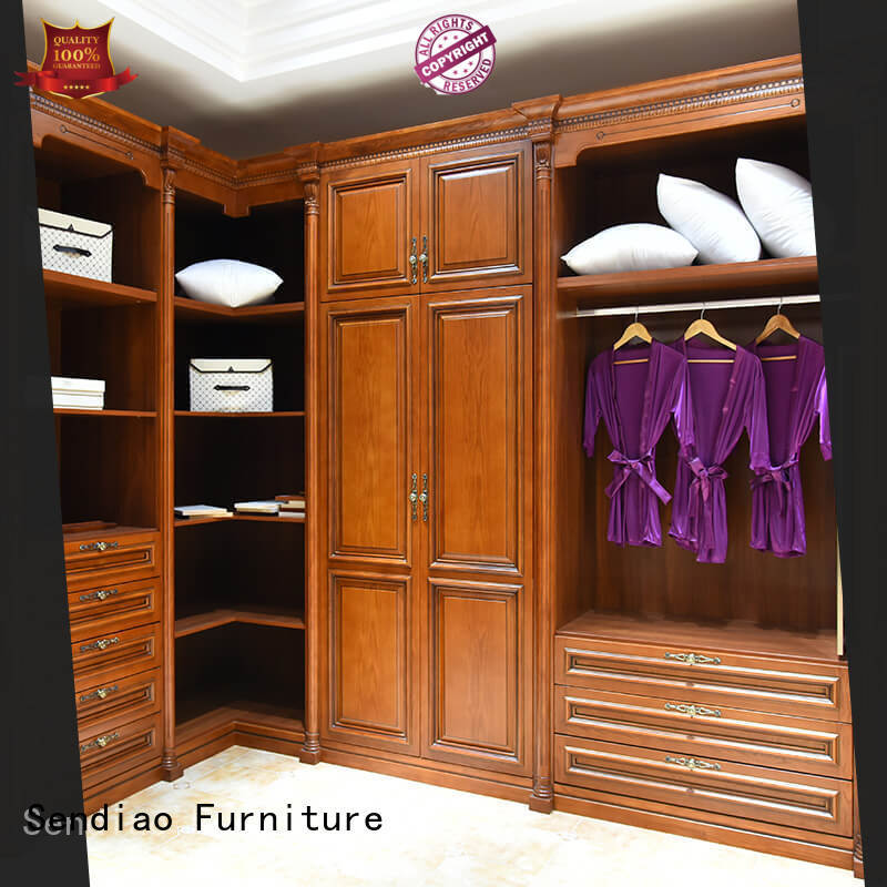 sdw05 wooden clothes closet classical A living room Sendiao Furniture