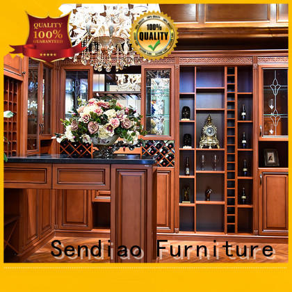 Sendiao Furniture High-quality wood wine rack cabinet Suppliers three-star hotel