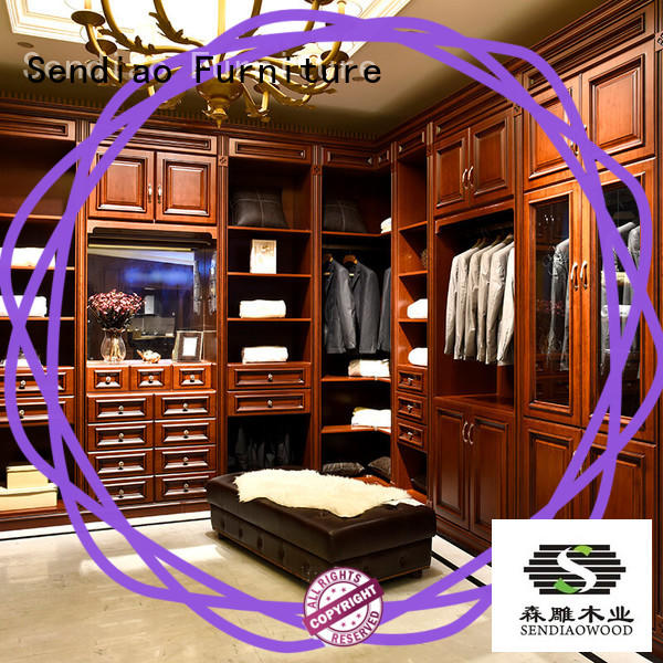 Sendiao Furniture The latest generation solid wood wardrobes American style Exhibition hall