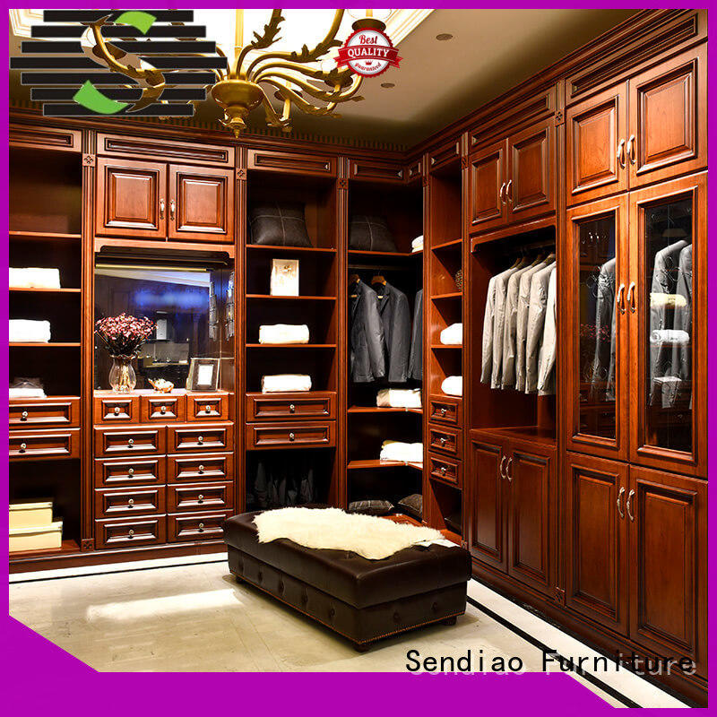 Sendiao Furniture solid wooden clothes wardrobe Supply chateau
