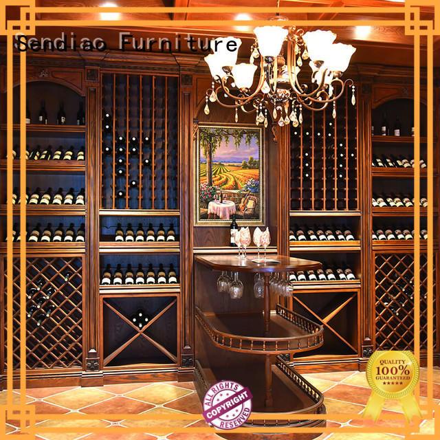 Sendiao Furniture wood wood wine rack cabinet manufacturers study