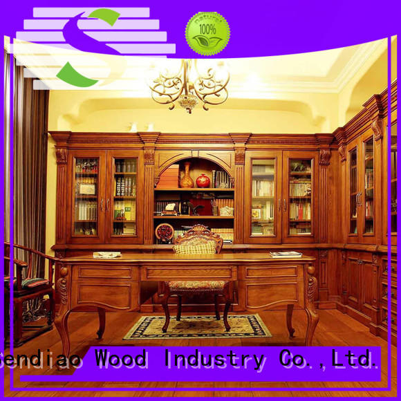 Sendiao Furniture threepiece bespoke bookcases company exhibition hall