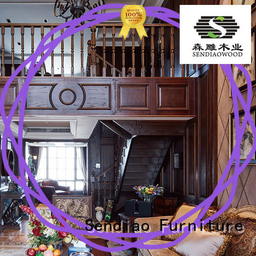 Promotion modern wood stairs Promotion Three-star Hotel Sendiao Furniture