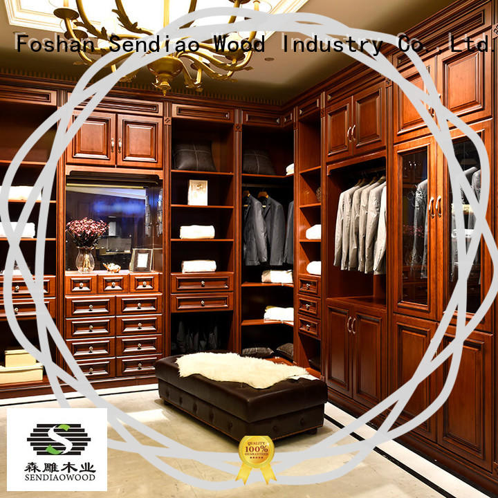 low price wood wardrobe cabinet American style Three-star Hotel