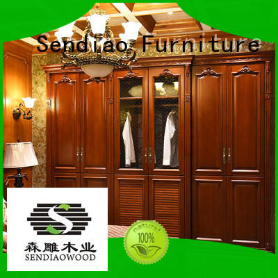 Sendiao Furniture wardrobe wood wardrobe cabinet The latest generation Fivestar Hotel