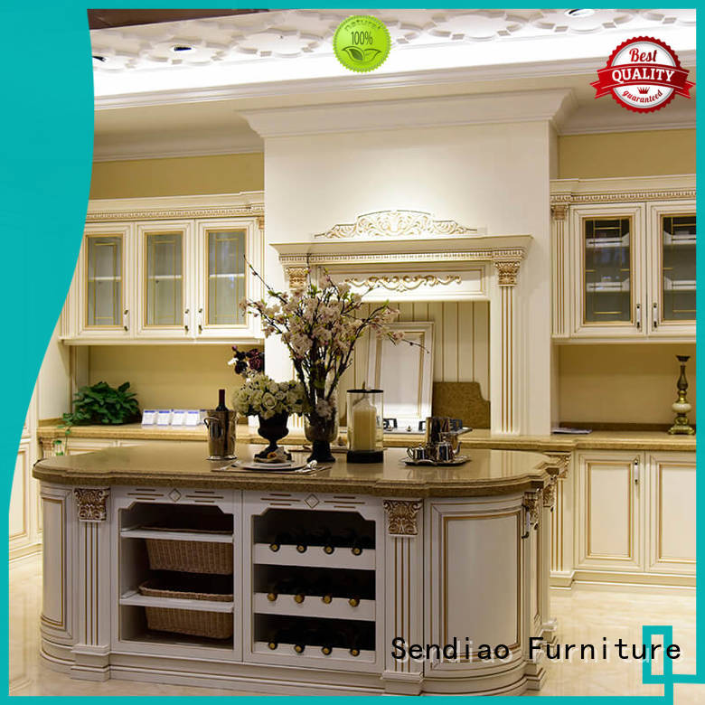 Sendiao Furniture elegance rustic kitchen cabinets American style Study