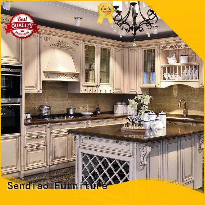 sdk09 hardwood kitchen cabinets New products Bedroom Sendiao Furniture