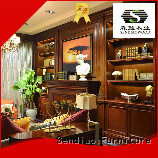 solid decorative wooden cabinet classical Study