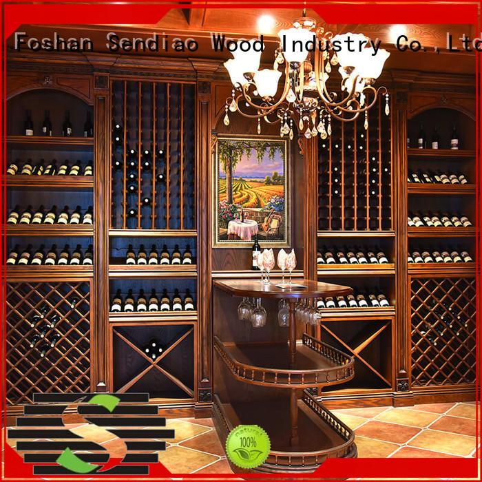Sendiao Furniture wine oak wine cabinet New products Three-star Hotel