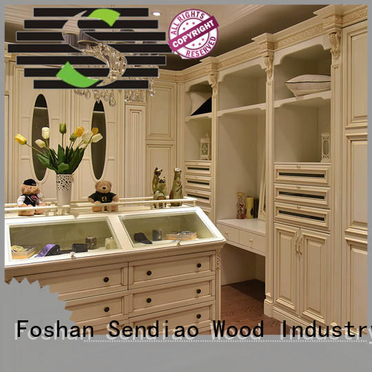 Sendiao Furniture elegance bespoke wardrobe design sdw04 Three-star Hotel