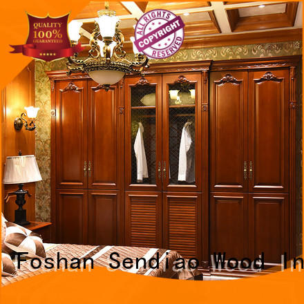 wood wardrobe cabinet wardrobe Chateau Sendiao Furniture