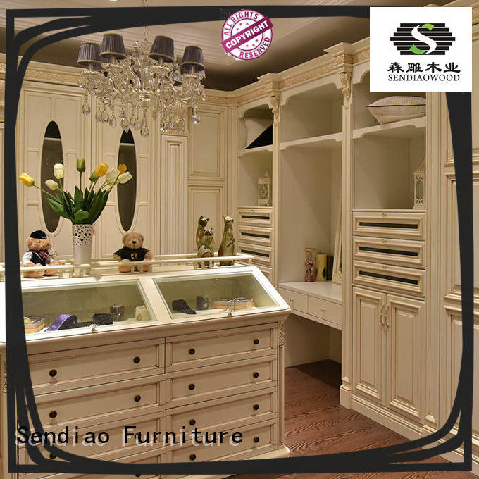 wooden wardrobe closet sdw04 A living room Sendiao Furniture