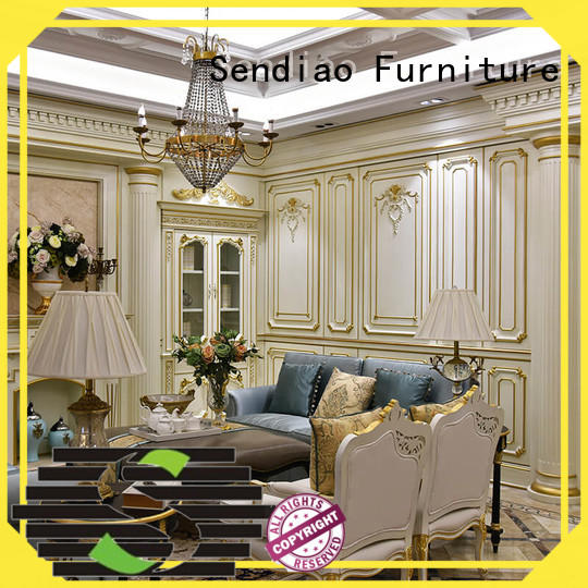 Sendiao Furniture solid decorative molding panels Simplicity A living room