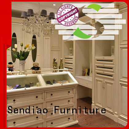 Sendiao Furniture classical solid wood wardrobes for business exhibition hall