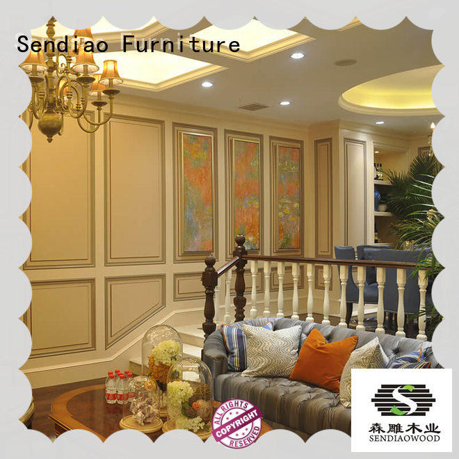 Sendiao Furniture low price wooden spiral staircase sds03 Four Star Hotel