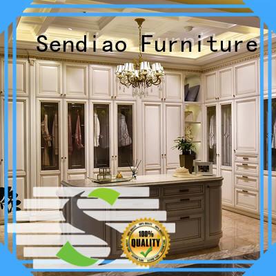 Sendiao Furniture furniture wood armoire wardrobe Suppliers three-star hotel