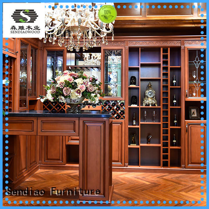Sendiao Furniture solid wooden wine cabinets furniture New products Bedroom