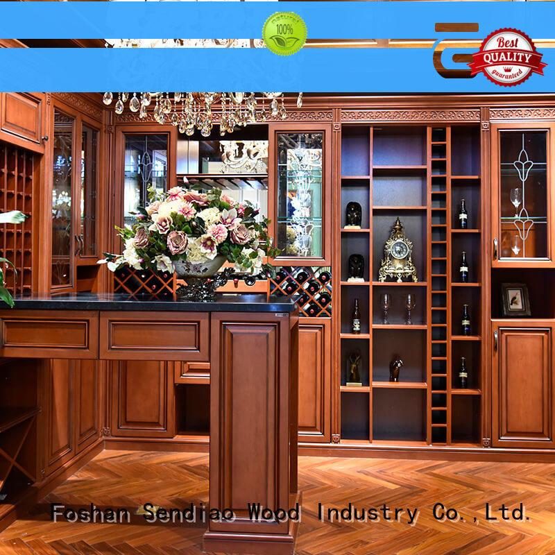 wood wine rack cabinet antique Exhibition hall Sendiao Furniture